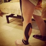 普段は痛くないのに、走ると痛むアキレス腱にテーピング