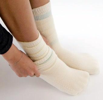 天然繊維靴下